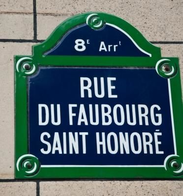 Faubourg Saint Honoré, Paris